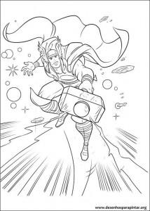 Thor Desenhos Para Pintar E Colorir