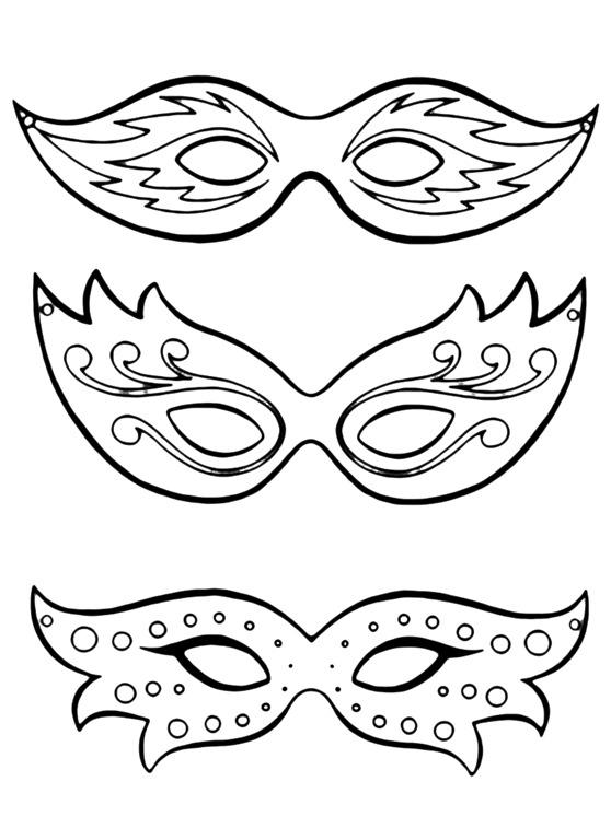 Mscaras de Carnaval para imprimir colorir pintar e recortar da