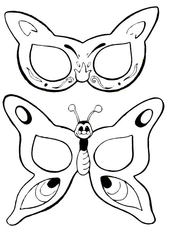 Antifaz Mariposa Dibujalia Dibujos Para Colorear Carnaval MEMES