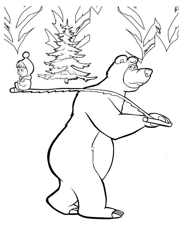 Masha E O Urso Desenhos Para Imprimir Colorir E Pintar Gratis