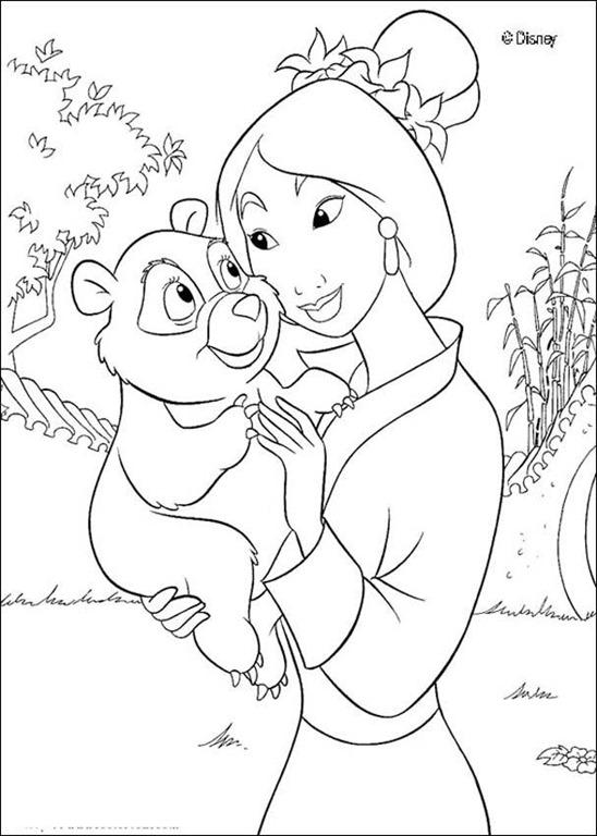 Mulan A Princesa Japonesa Da Disney Desenhos Para Imprimir Colorir