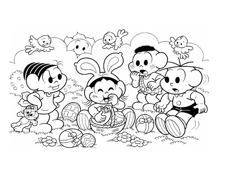 25 Desenhos Do Angry Birds Para Colorir Em Casa: Desenhos De Páscoa Da Turma Da Monica Para Imprimir