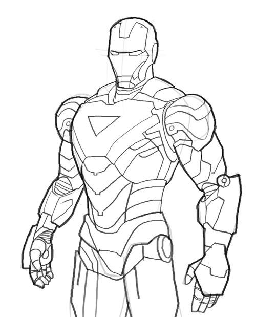 Homem de Ferro / Iron Man desenhos para colorir imprimir e pintar ...