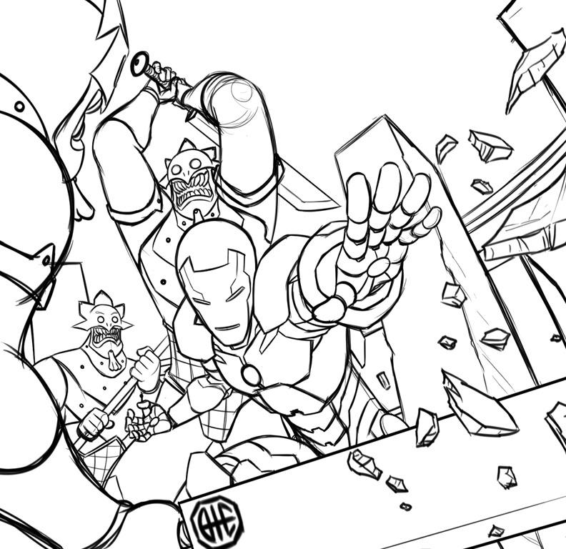 Jogo Homem De Ferro / Iron Man Desenhos Para Colorir