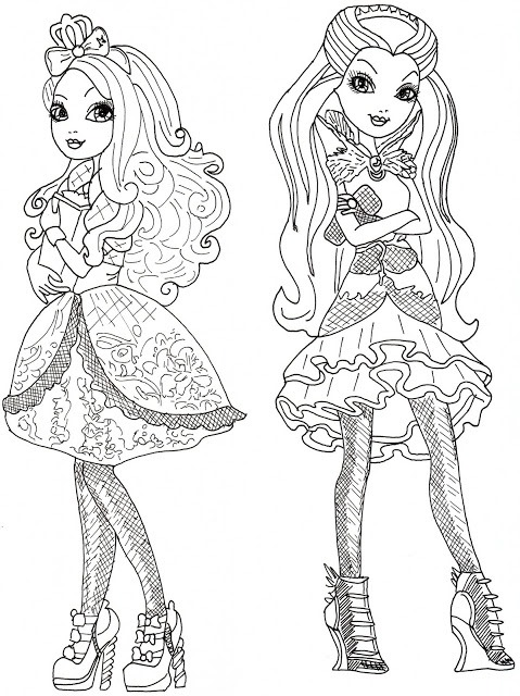 Ever After High Desenhos Para Colorir Imprimir E Pintar Da Madeline Apple White Raven Etc