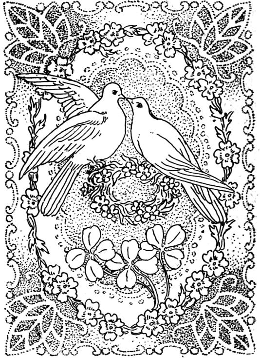 paisagens e pássaros desenhos grátis para adultos e crianças