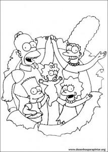 Os Simpsons Desenhos Para Pintar E Colorir