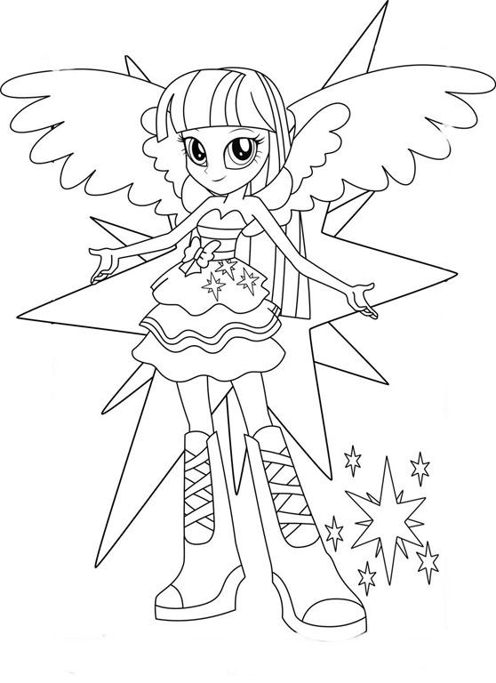 Equestria Girls My Little Pony Desenhos Para Imprimir Colorir E