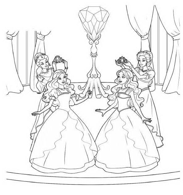 barbie e o castelo de diamantes desenhos para imprimir colorir e
