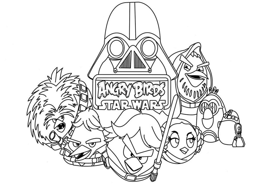25 Desenhos Do Angry Birds Para Colorir Em Casa: Angry Birds Star Wars Desenhos Para Imprimir Colorir E