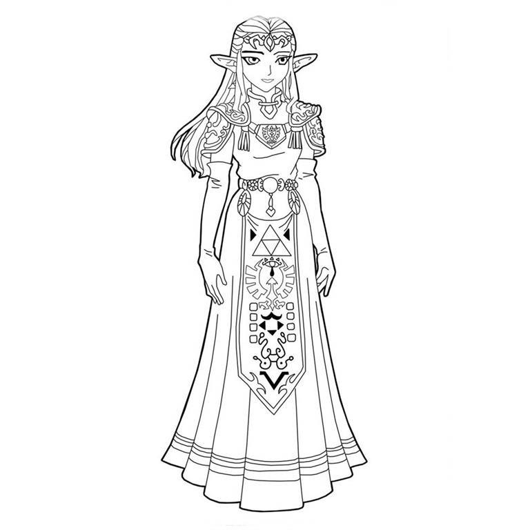 Link O Heroi Do Game Lenda De Zelda Da Nintendo Desenhos Para