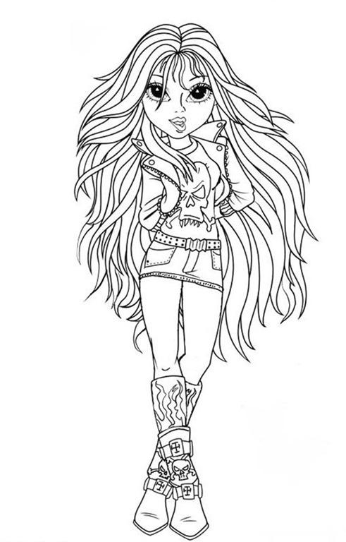 Hello Kitty Kleurplaat Verjaardag Bonecas Moxie Girlz Desenhos Para Imprimir Colorir E