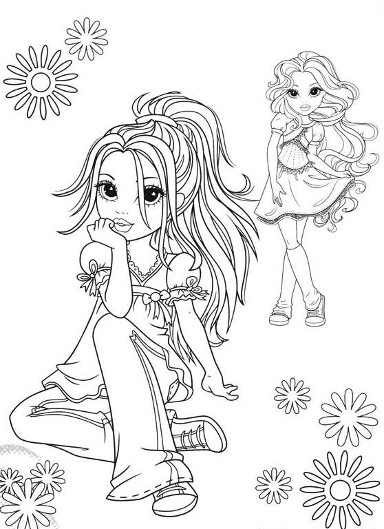 Bonecas Moxie Girlz desenhos para imprimir colorir e