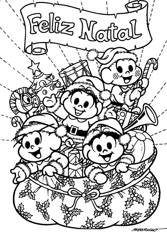 Feliz Natal Desenhos Para Pintar Imprimir E Colorir Com A