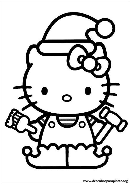 Hello kitty de natal desenhos para imprimir colorir e pintar desenhos para pintar e colorir - Kitty noel coloriage ...