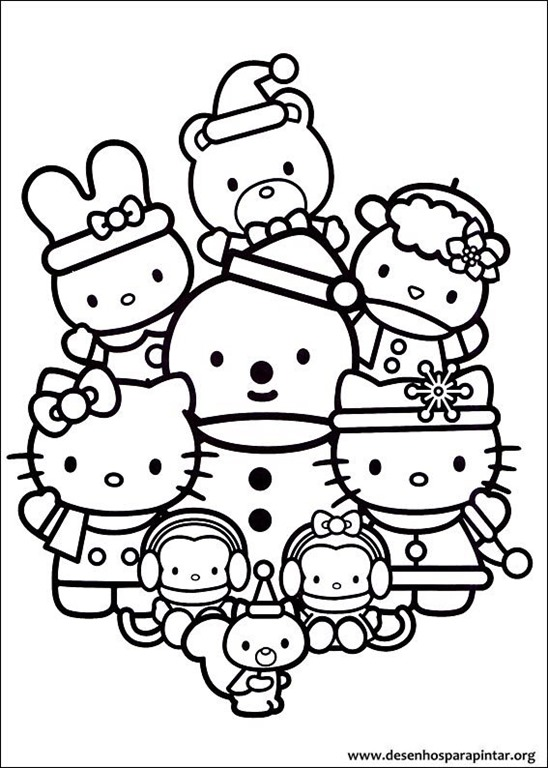 Hello kitty de natal desenhos para imprimir colorir e - Moxie girlz pagine da colorare ...