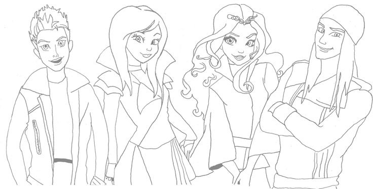 Descendentes Disney Desenhos Para Colorir Imprimir Pintar 1