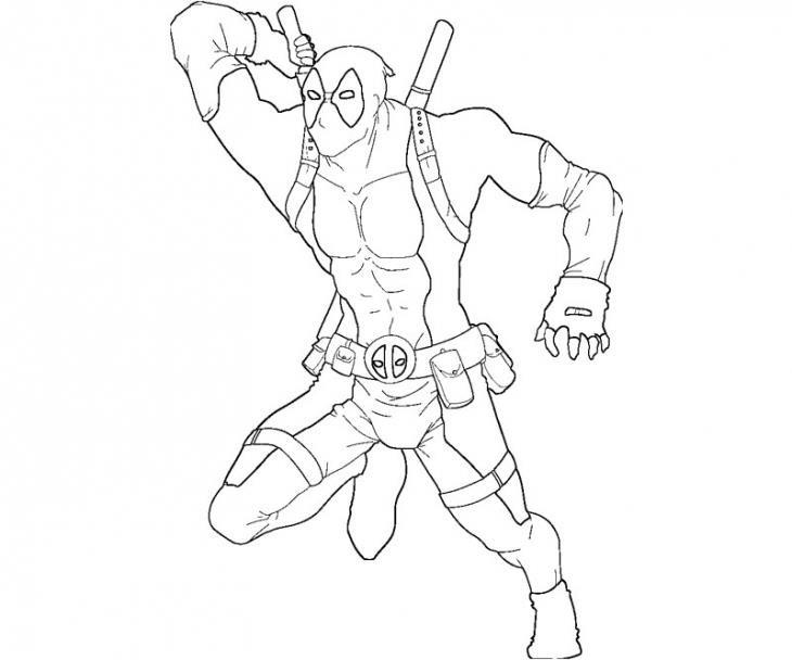Marvel Deadpool Ausmalbilder Gratis: Deadpool Desenhos Para Colorir Imprimir E Pintar