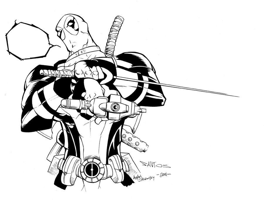 Deadpool Para Colorear Pintar E Imprimir