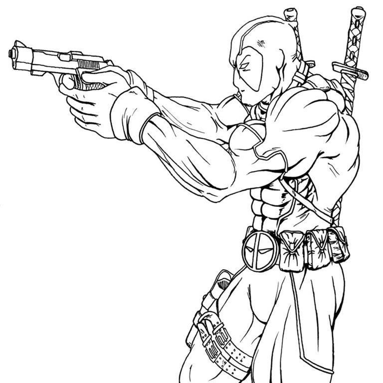 Deadpool desenhos para colorir imprimir e pintar - Disenos para pintar ...