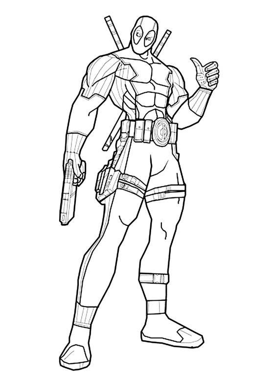 Deadpool Desenhos Para Colorir Imprimir E Pintar Desenhos Para