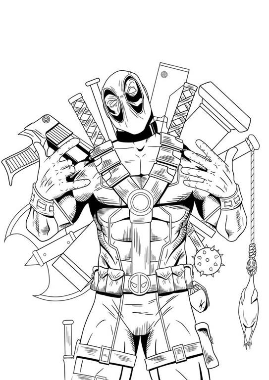 Deadpool desenhos para colorir