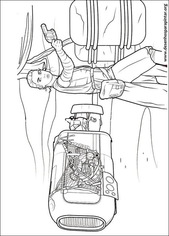 desenhos para pintar do bb8 chewbacca jedi e outros personagens do