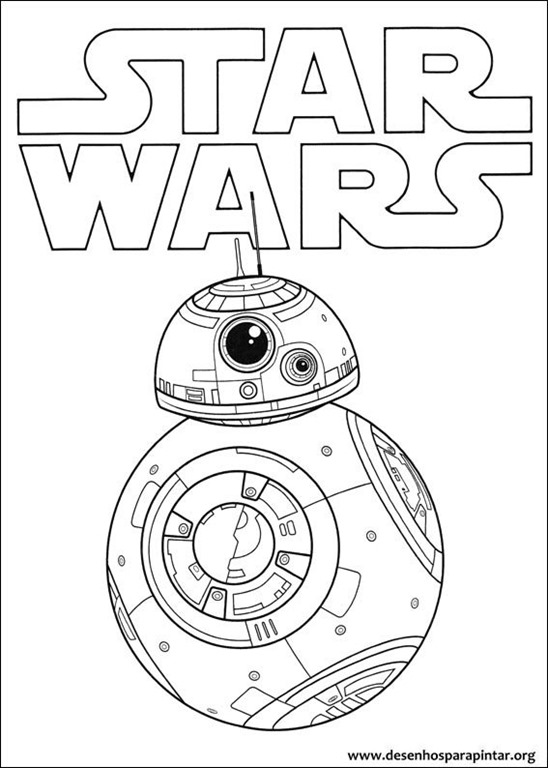 Jogo Desenhos para pintar do BB8 Chewbacca Jedi e outros personagens ...