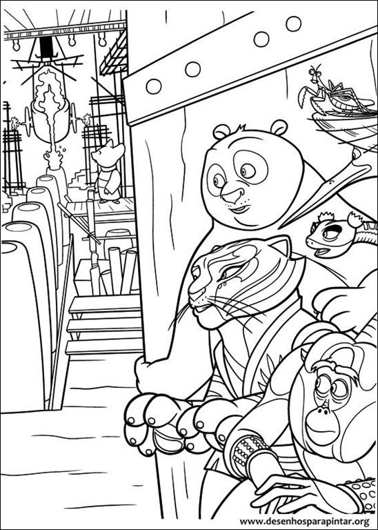 Kung Fu Panda E Os Cinco Furiosos Desenhos Para Imprimir