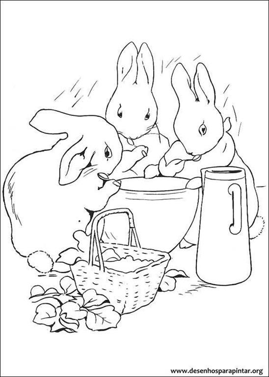 Peter Rabbit o coelho Pedro desenhos para colorir imprimir e pintar ...