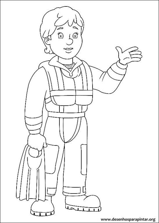 Bombeiro sam desenhos para colorir imprimir e pintar - Dessin de sam le pompier ...