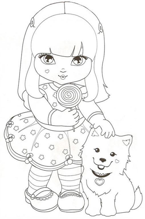 jolie desenhos para colorir imprimir e pintar das garotinhas e seus
