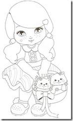 Jolie desenhos para colorir imprimir e pintar das garotinhas e seus cachorrinhos