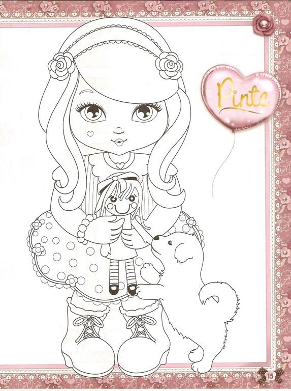 Jolie desenhos para colorir imprimir e pintar das garotinhas e seus ...