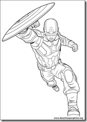 Capitão América e Vingadores em Guerra Civil desenhos para imprimir colorir e pintar