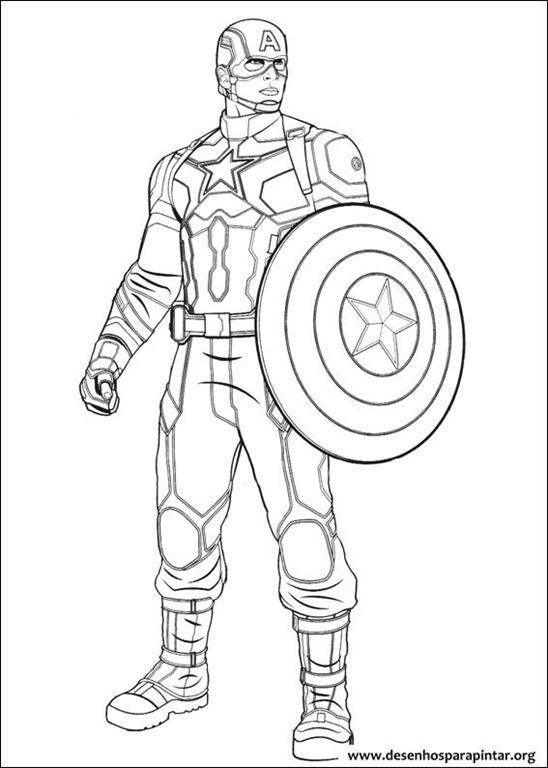 capitão américa e vingadores em guerra civil desenhos para imprimir