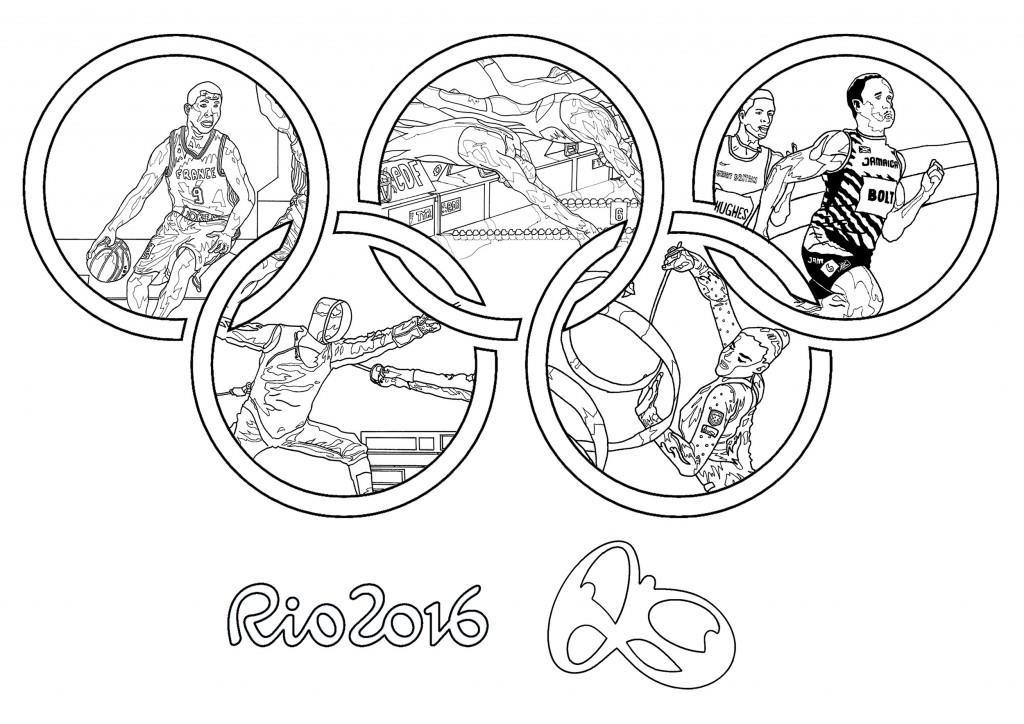 Jogos Olímpicos Novos Desenhos Para Imprimir Colorir E