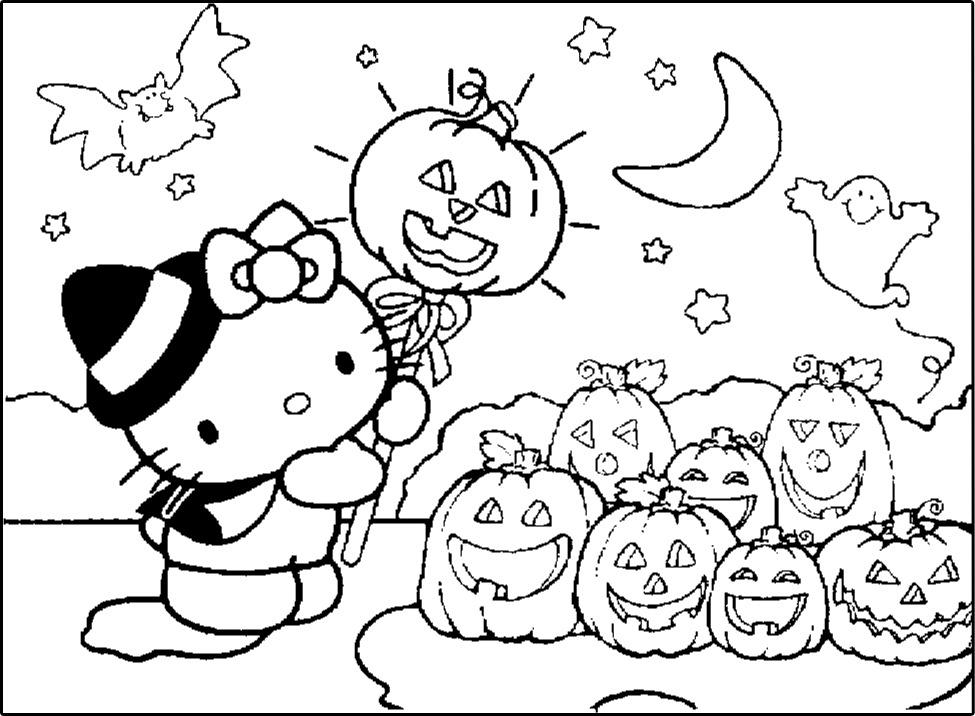 Hello Kitty No Dia Das Bruxas Halloween Desenhos Para