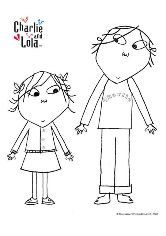 Charlie E Lola Desenhos Para Colorir Imprimir E Pintar