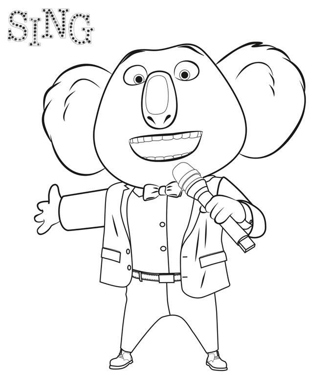 Sing Quem Canta Seus Males Espanta Desenhos Para Colorir E