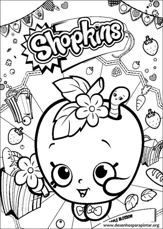 Shopkins desenhos para colorir