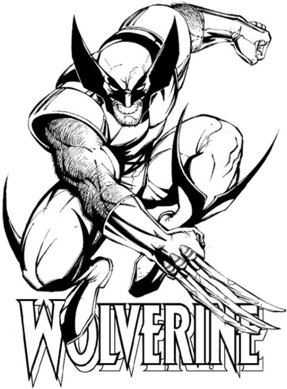Wolverine Logan Desenhos Para Colorir Imprimir E Pintar Desenhos