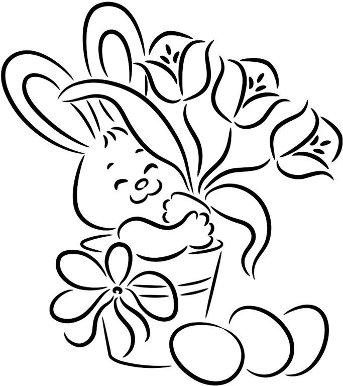 Coelhinho Da Pascoa Desenhos Para Imprimir Colorir E Pintar
