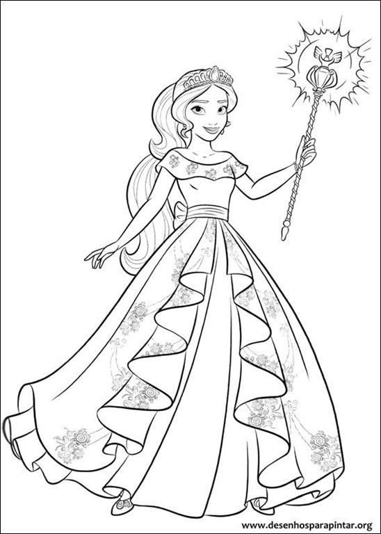 Elena de Avalor desenhos para colorir imprimir e pintar da nova ...