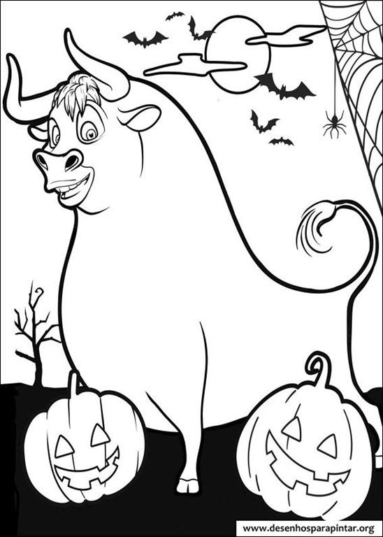 o simp u00e1tico touro ferdinando  desenhos para imprimir colorir e pintar   u2013 desenhos para pintar e