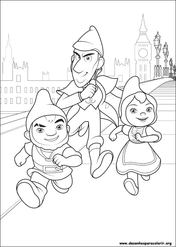 Gnomeu E Julieta 2 Sherlock Gnomes Desenhos Para Colorir