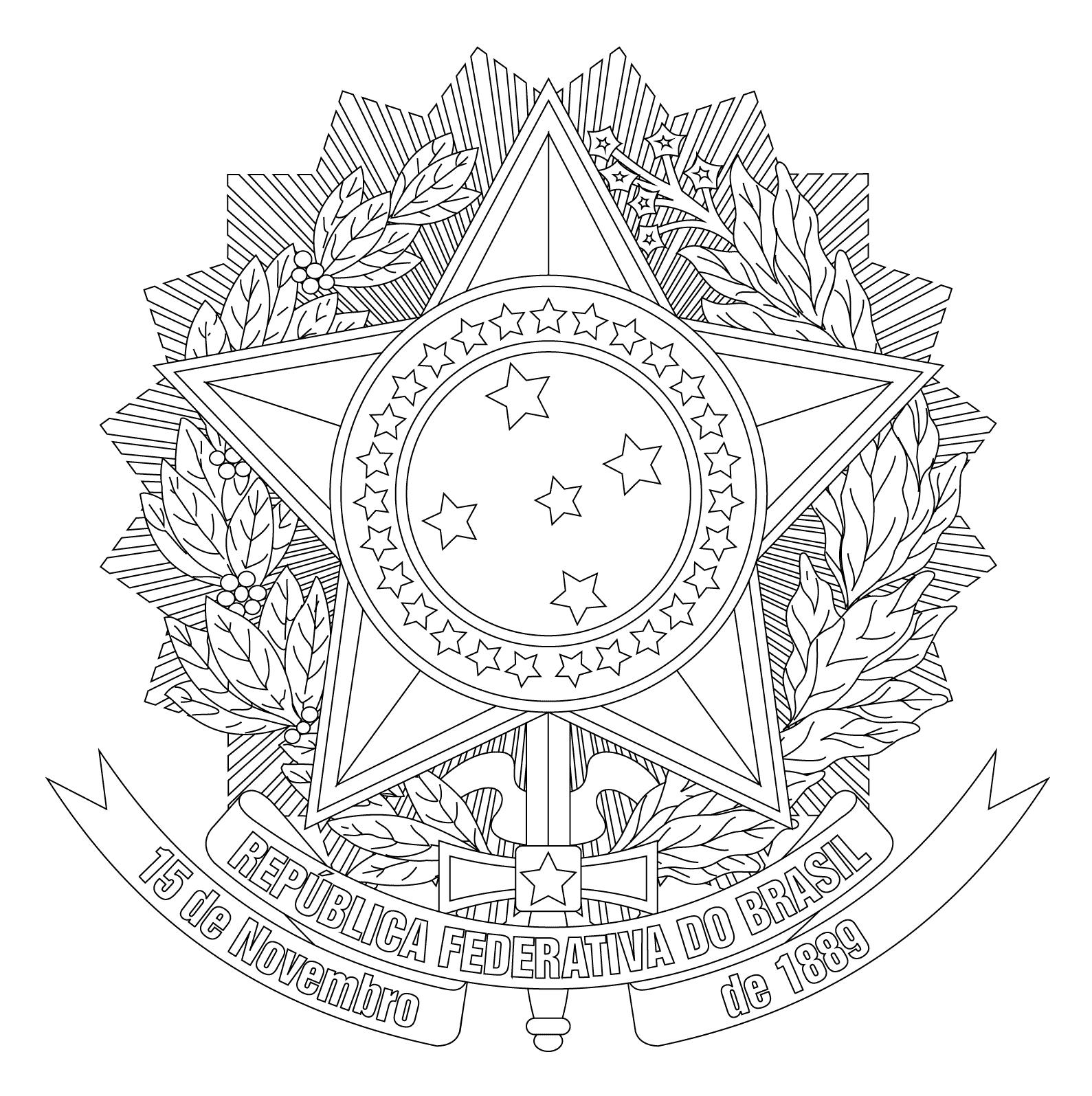 Proclama 231 227 O Da Rep 250 Blica Do Brasil Desenhos Para Colorir