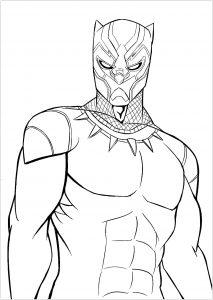 Pantera Negra desenhos para colorir imprimir e pintar