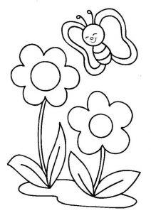 Desenhos da Primavera para colorir imprimir e pintar