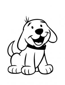 Desenhos de Cachorros e cães fofinhos para colorir imprimir e pintar